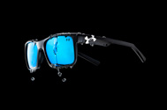 Under Armour Satin Black Align Sunglasses with liquid dripping